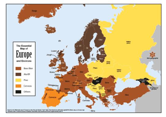 Eurobeer-map
