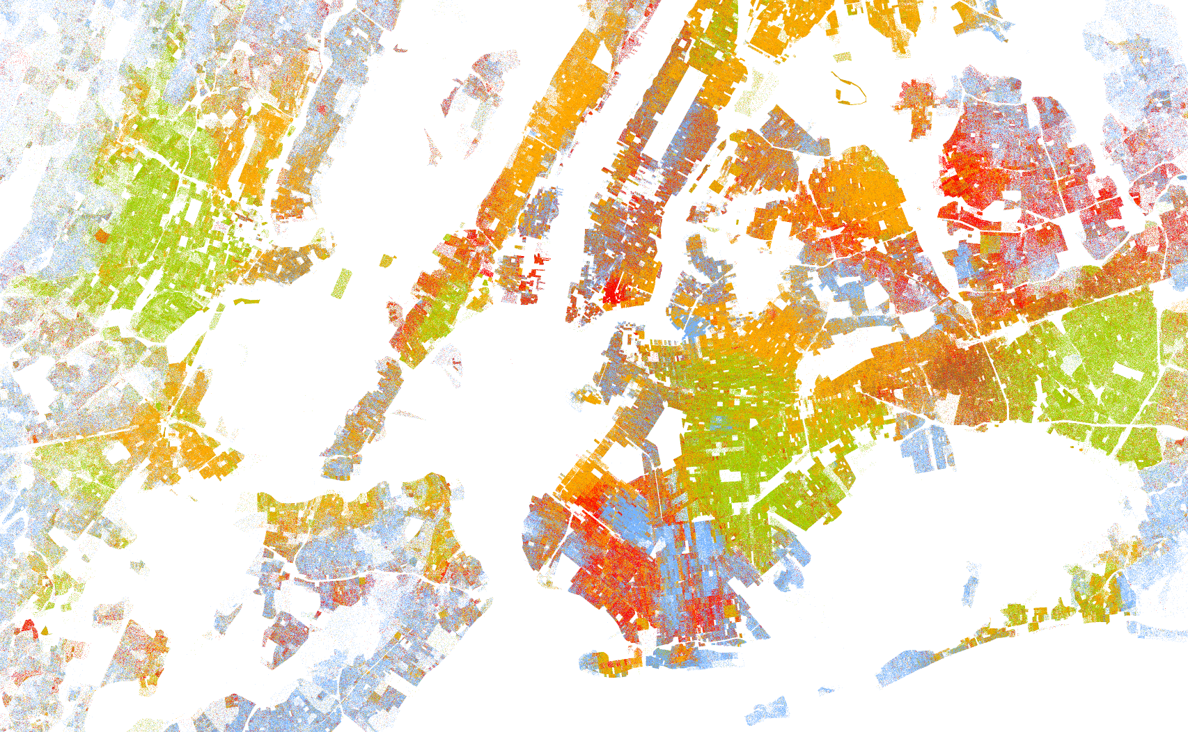 Staat New York City Inwoner-kaart-new-york-city