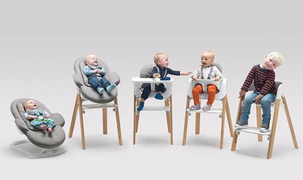 Baby In Kinderstoel.Stokke Steps Ergonomische Kinderstoel Groeit Mee Van Baby