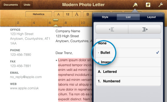 Bullet-Numbered-points-iPad-iPhone-Pages