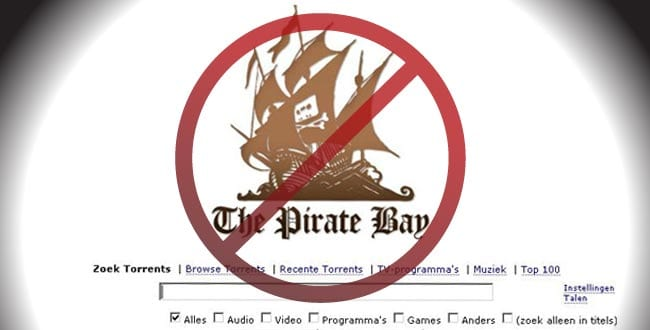 Blokkage The Pirate Bay