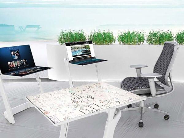 Onze werkplek van de toekomst? Touchscreen bureaus! • Numrush