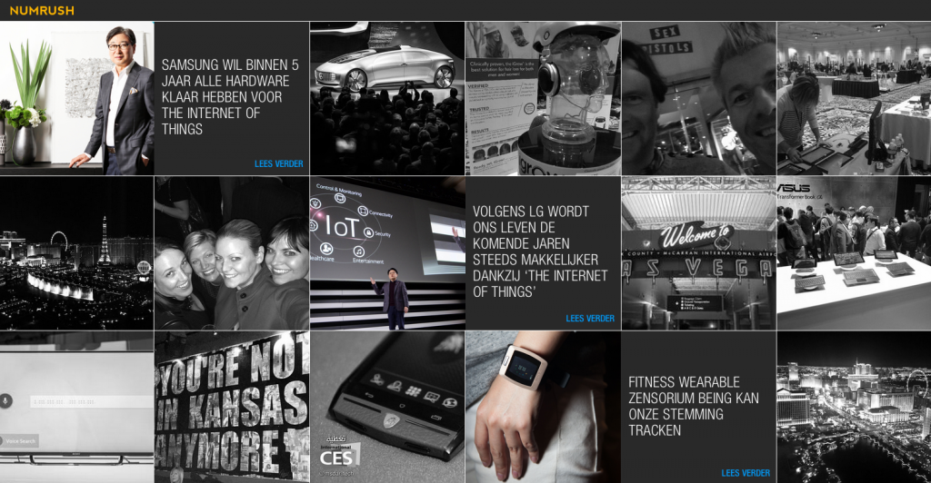 CES 2015 Numrush Event Wall