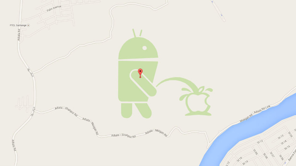 Android-peeing-apple