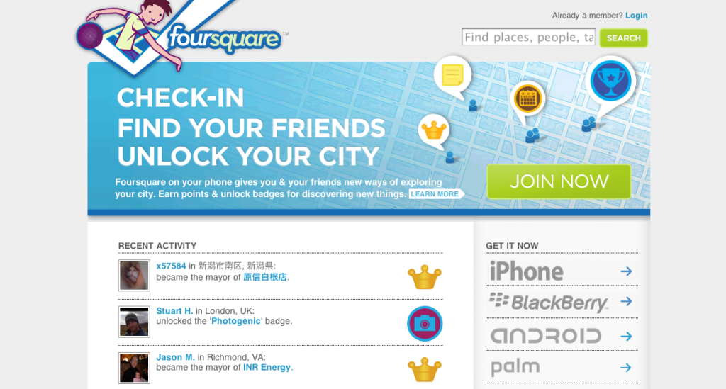 foursquare-first-website