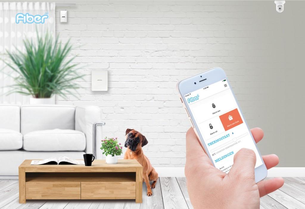 smart alarm smart home FiberNL