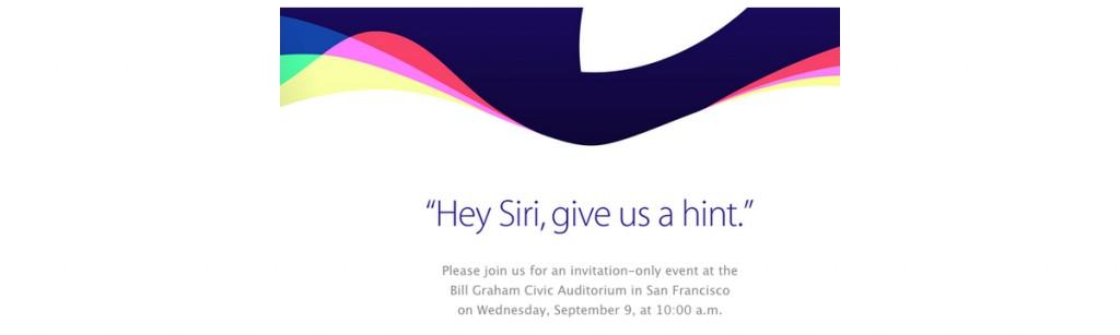 De uitnodiging van Apple voor de iPhone-aankondiging op 9 september