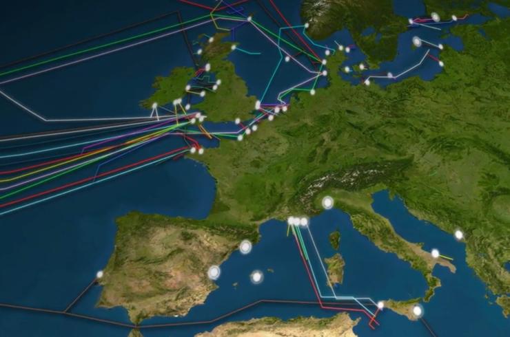 Internetkabels transatlantisch