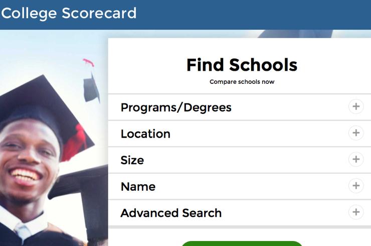 College Scorecard Verenigde Staten