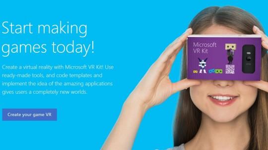 VR Kit Microsoft Google Cardboard