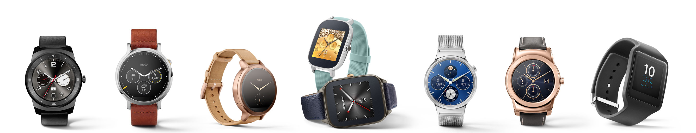 Android Wear line-up