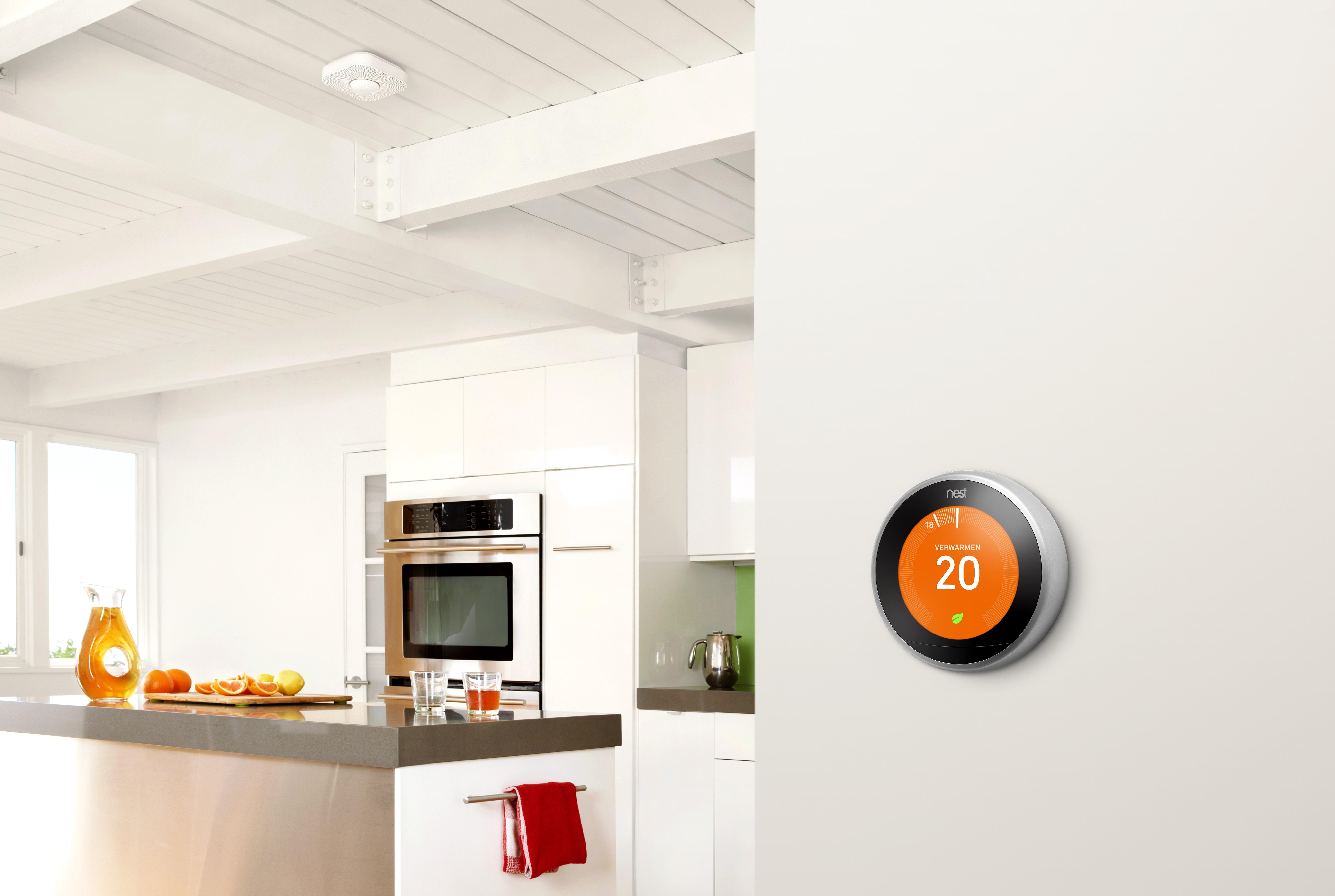 nieuwe nest thermostaat ondersteunt opentherm. Black Bedroom Furniture Sets. Home Design Ideas