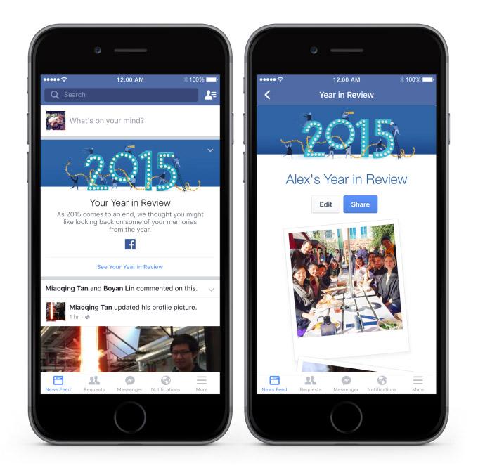 Facebook jaaroverzicht 2015