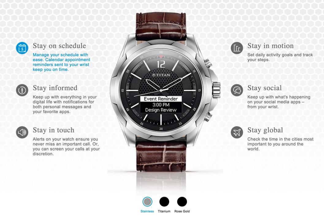 Juxt smartwatch-functies