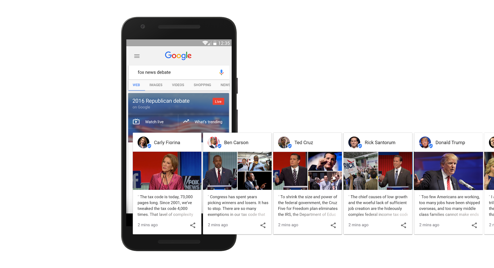 Google presidentskandidaten