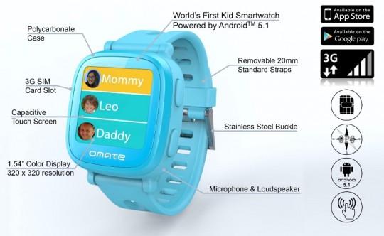 omate maakt smartwatch met simkaart voor kinderen. Black Bedroom Furniture Sets. Home Design Ideas