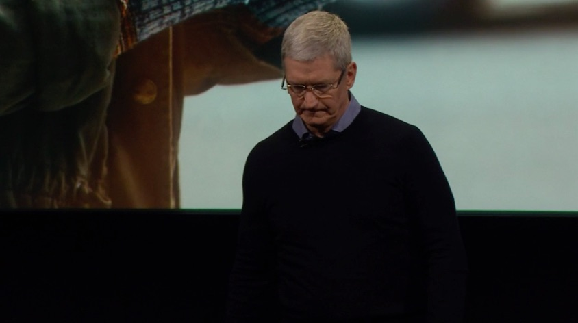 Tim Cook op Apple Event