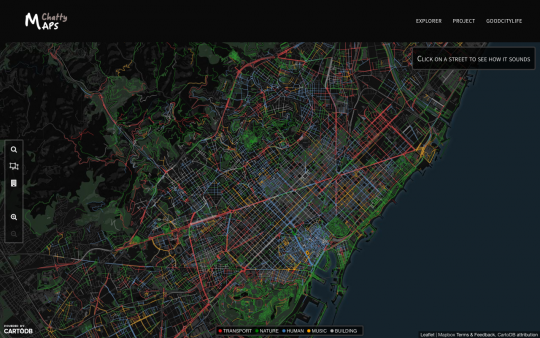 Chatty Map van Barcelona