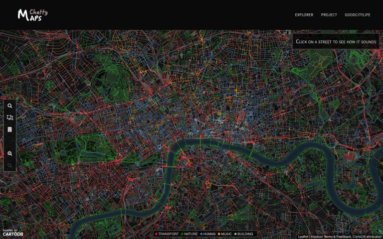 Chatty Map van Londen
