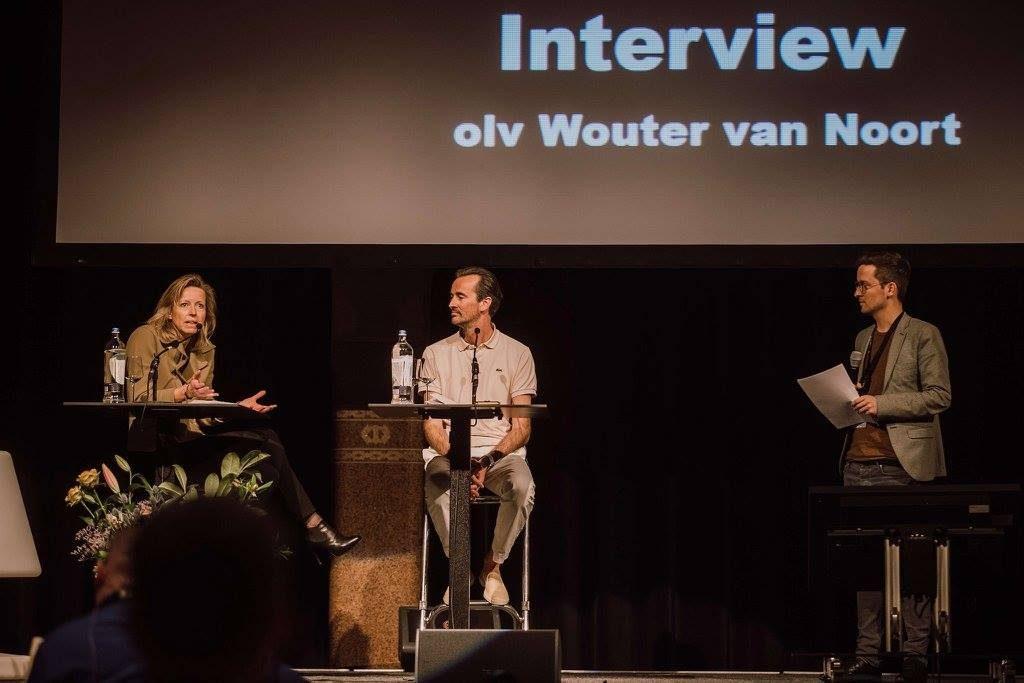 Kajsa Ollongren, wethouder Gemeente Amsterdam, en Boris Veldhuijzen van Zanten, CEO van The Next Web