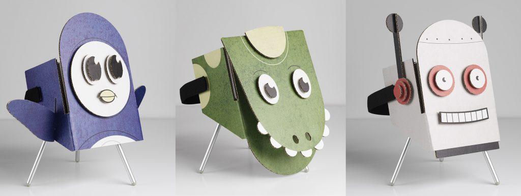 Maskers voor de Gear VR voor de karakters uit de verhalen