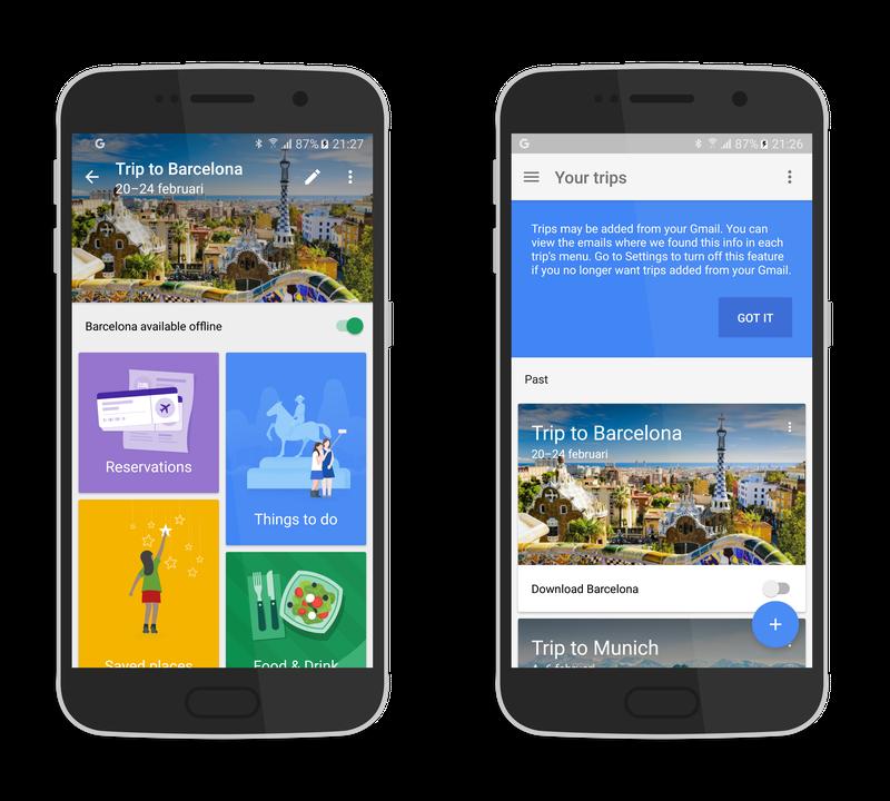 Google Trips combi