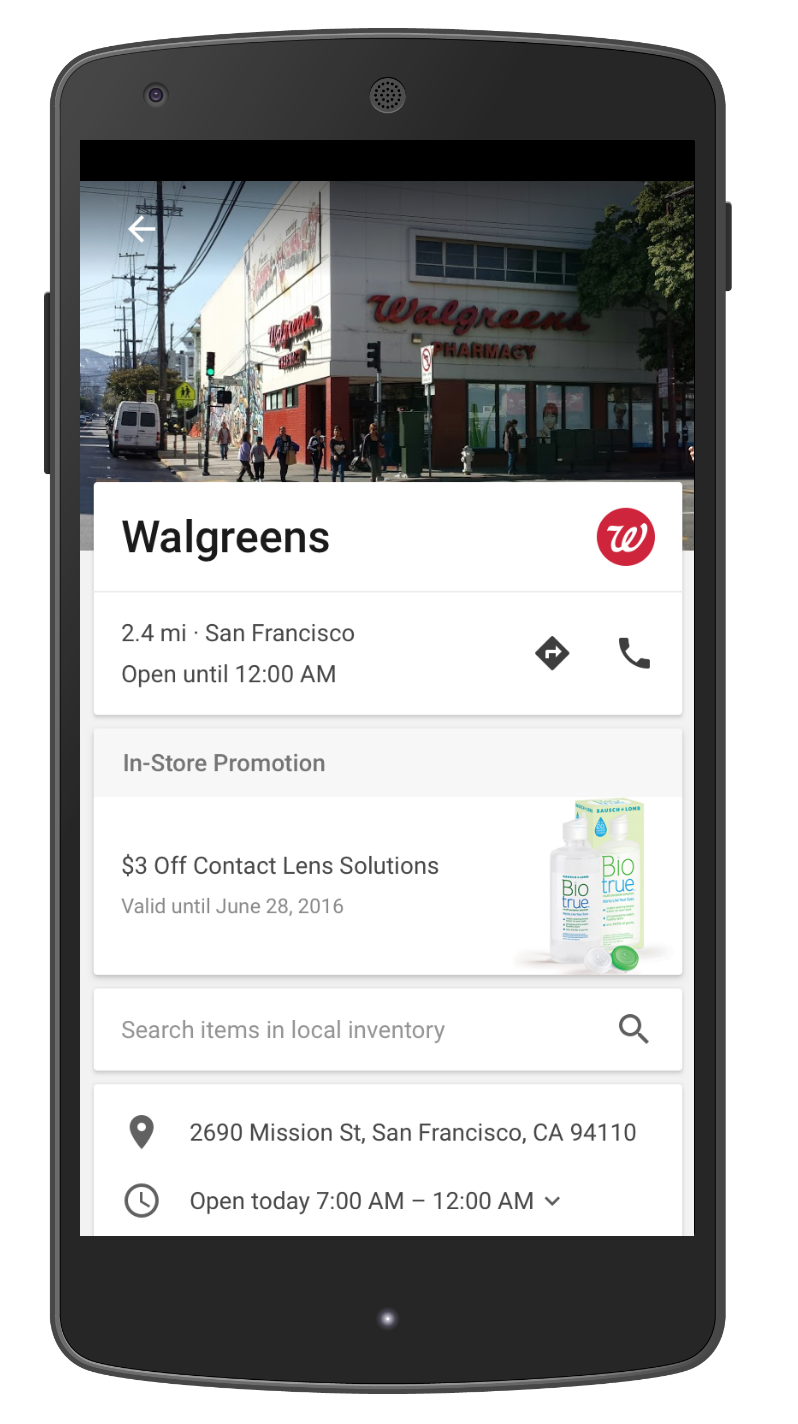 Google Maps nieuwe ad