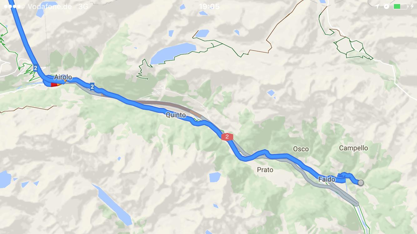 De alternatieve route naar de Gotthardtunnel