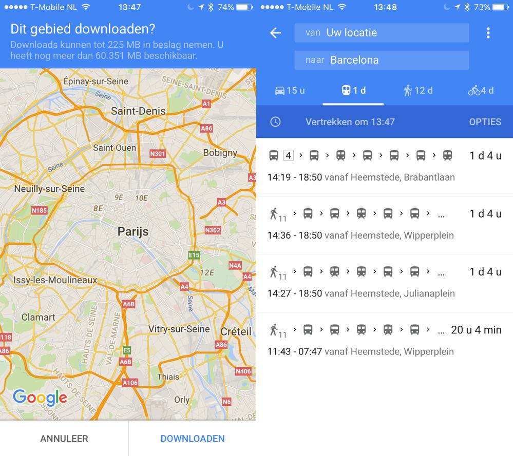 Google Maps vakantie