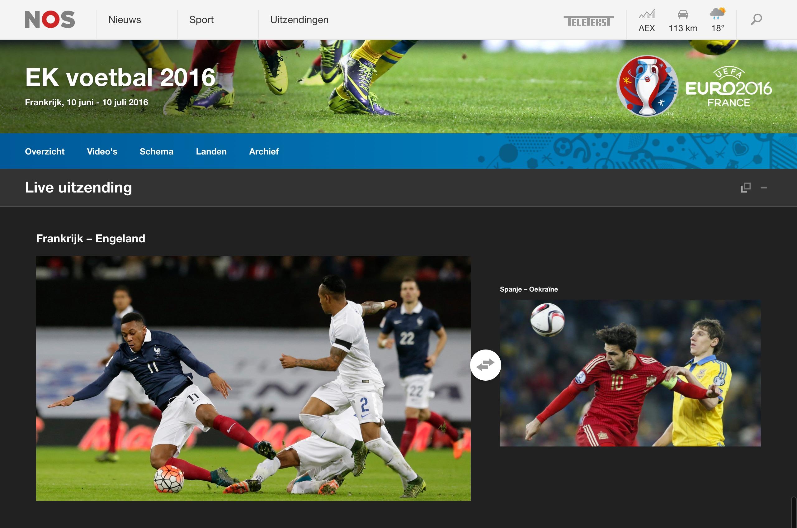 Livestream EK voetbal