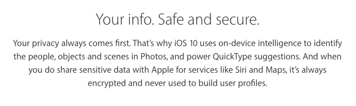 Privacy in iOS 10