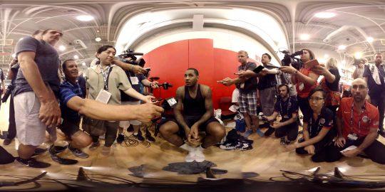 Samsung VR 360 basketball