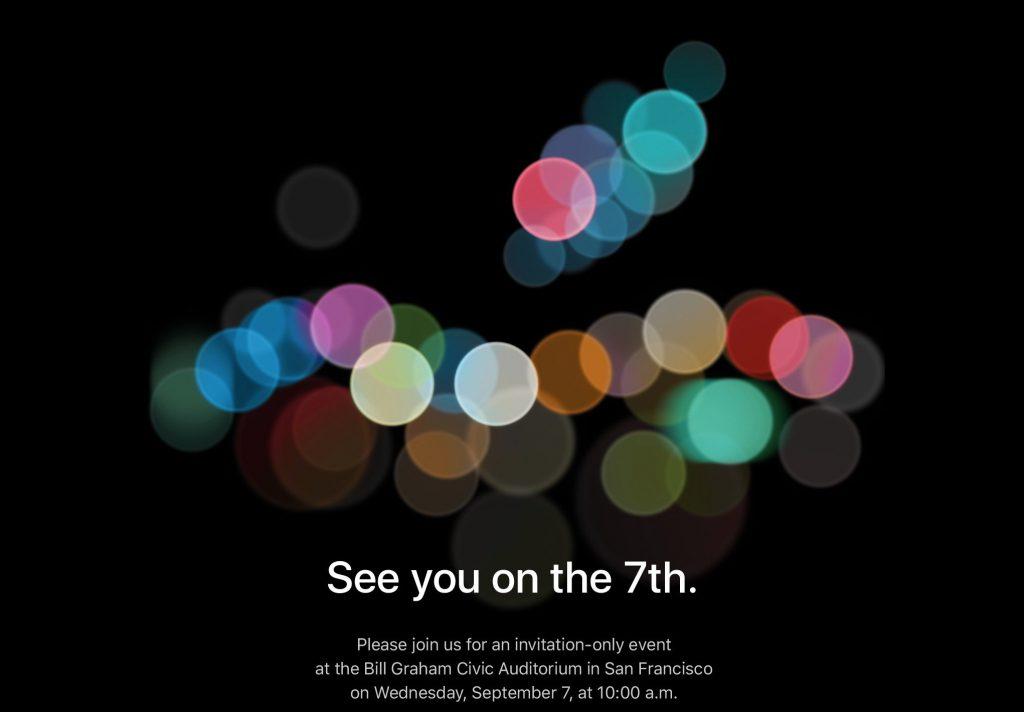 iPhone 7 aankondiging