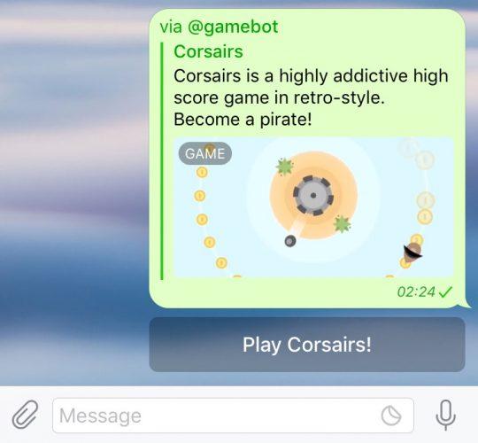 Telegram spel