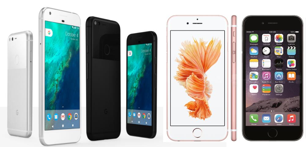 Pixel en iPhone 6S