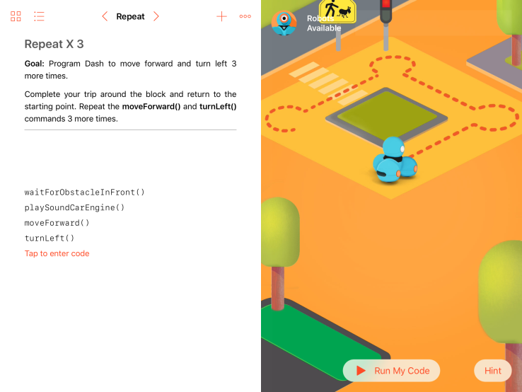 Dash en Dot Swift Playground