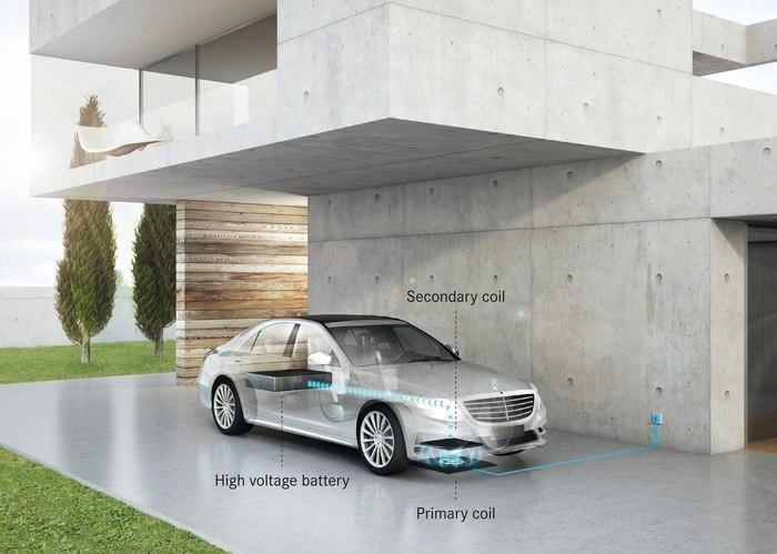 Mercedes-Benz S550e Qualcomm Halo draadloos opladen