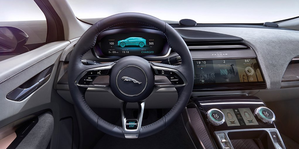Jaguar gaat concurrentie met model x suv aan met nieuwe i pace for Interieur tesla model s