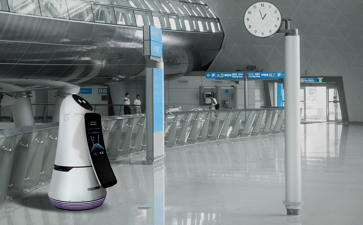 LG Airport Guide Robot