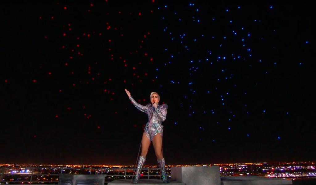 Lady Gaga drones Super Bowl