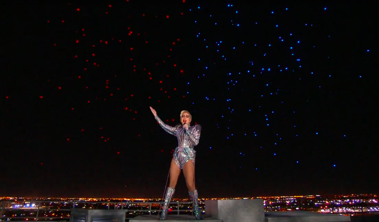 Lady Gaga drones Super Bowl