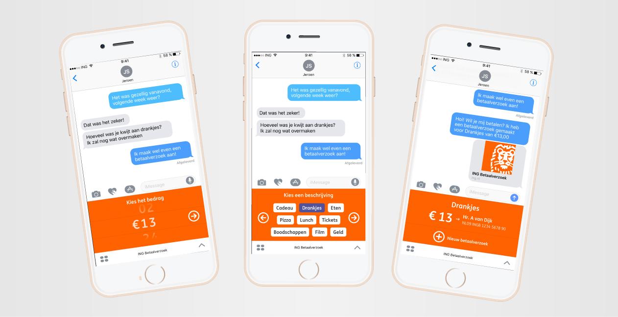 iMessage-app ING Mobiel Bankieren