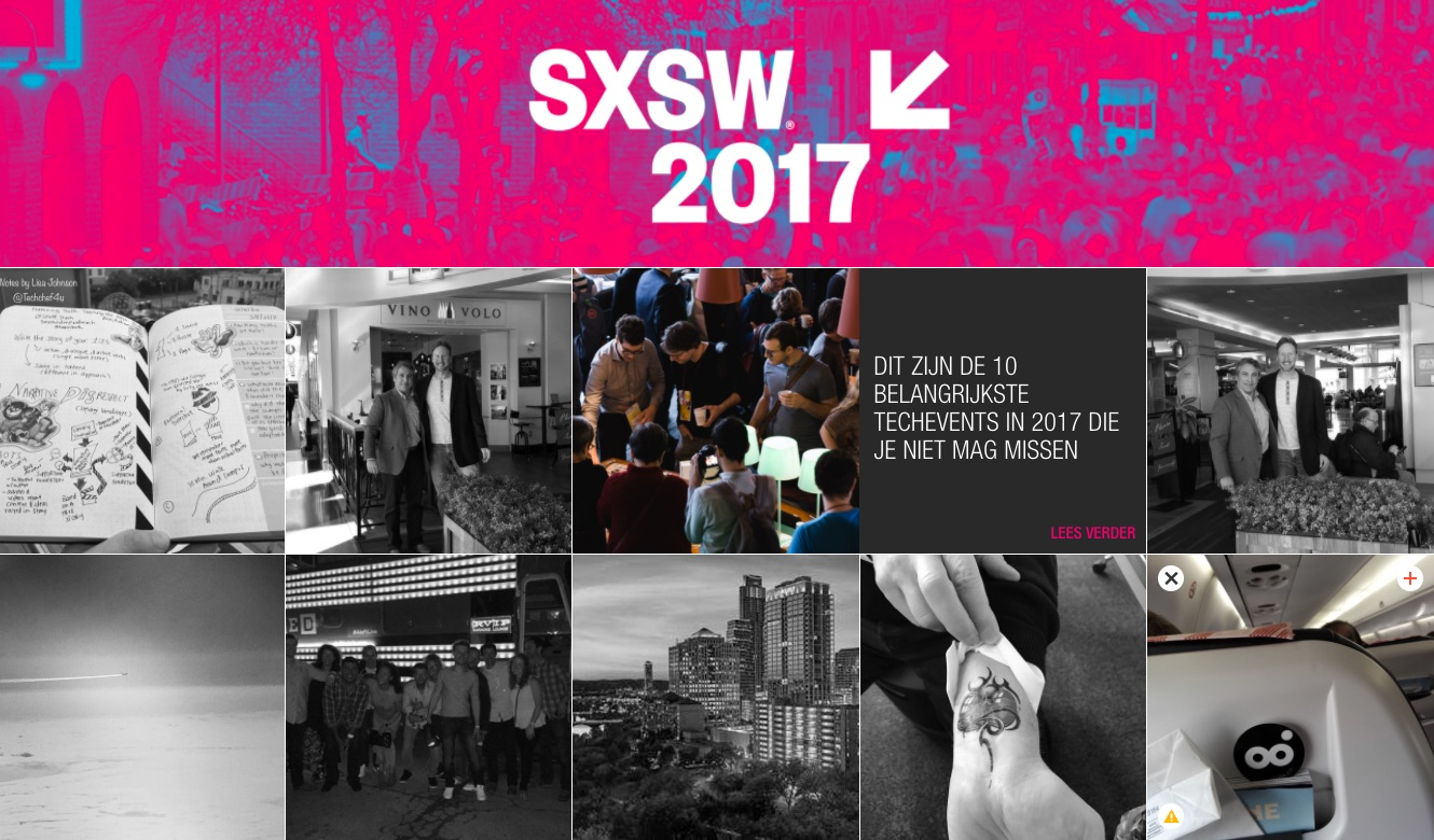 SXSW 2017 Event Wall