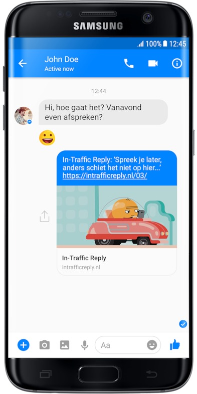 In-Traffic Reply Samsung