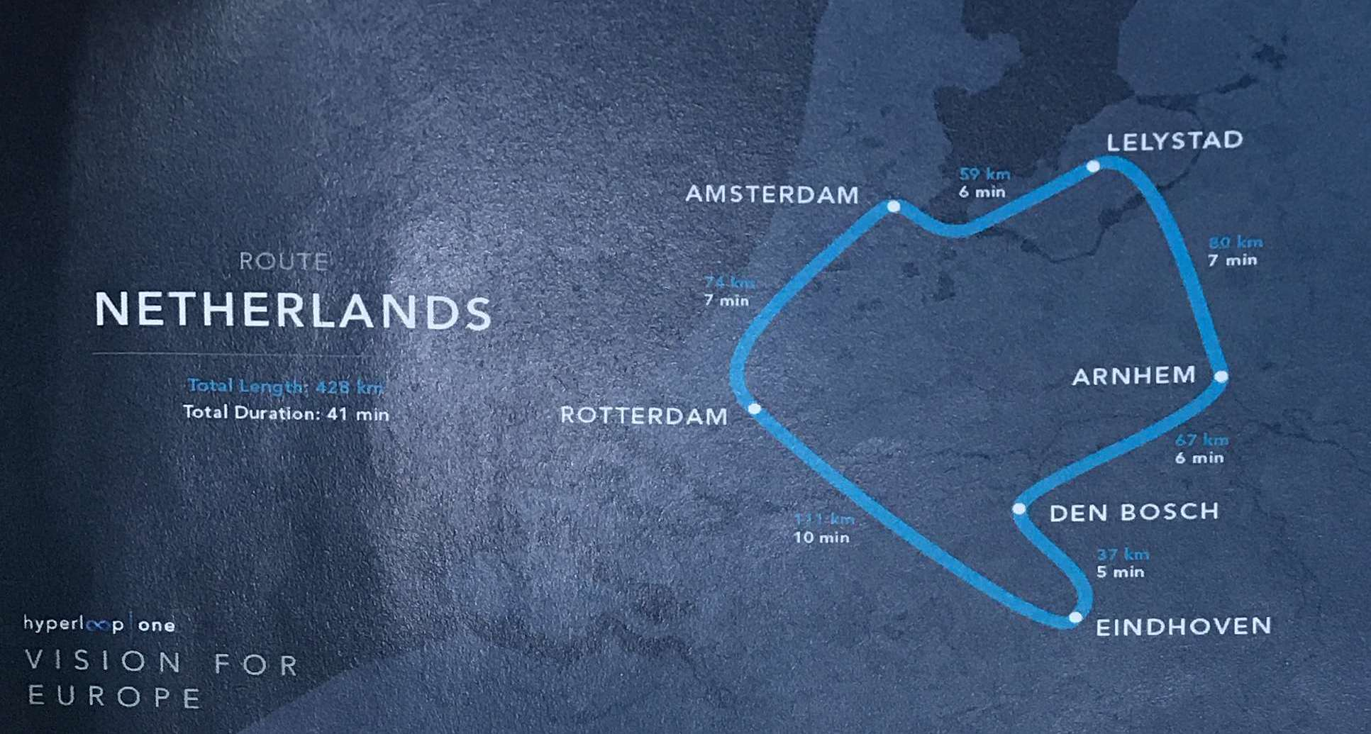 Hyperloop One Netherlands route