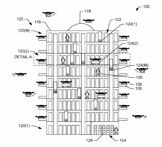 Bijenkorf drones Amazon patent