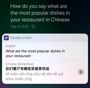 Siri Translate