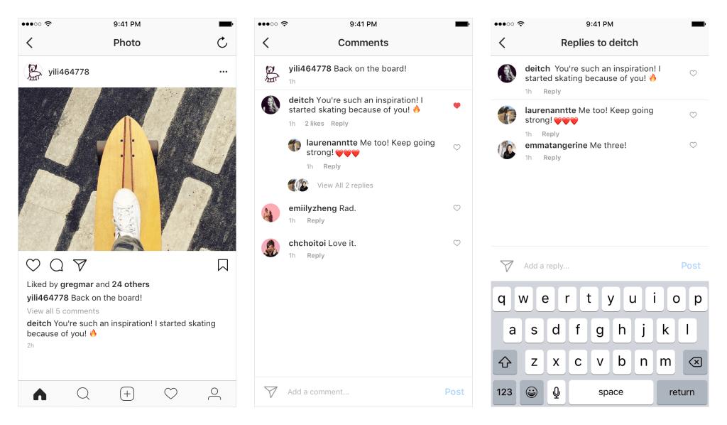 Instagram reacties