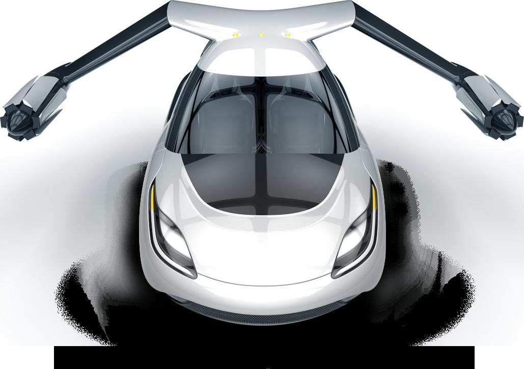 eerste vliegende auto
