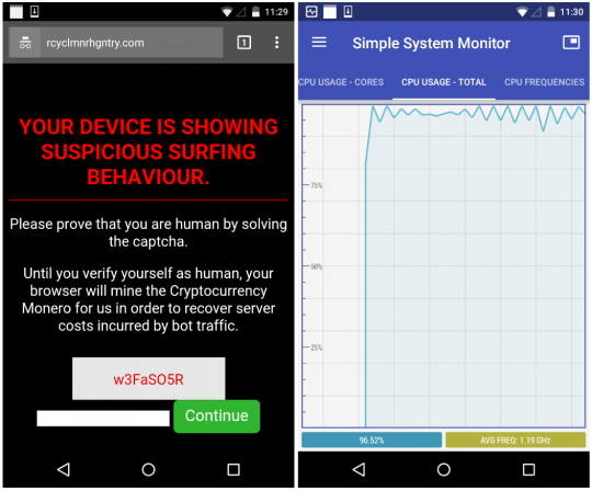 Cryptovaluta Monero-minen-Android